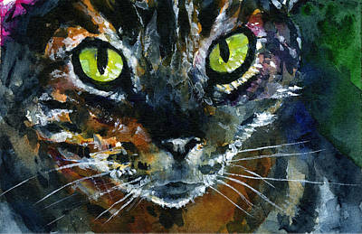 Painting - Cats Eyes 16 by John D Benson