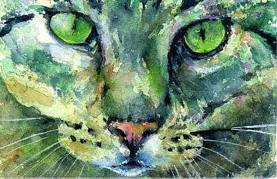 Painting - Cats Eyes 17 by John D Benson