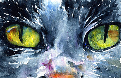 Painting - Cats Eyes 19 by John D Benson