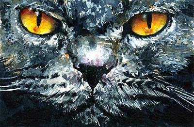John Benson Painting - Cats Eyes 4 by John D Benson