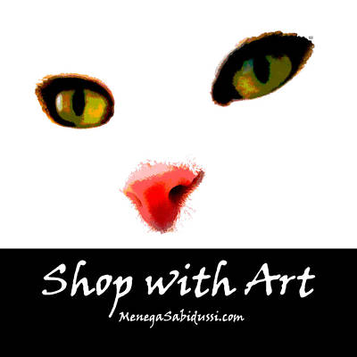 Photograph - Cats Face - Shop With Art by Menega Sabidussi