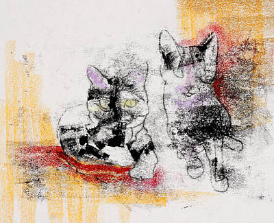 Painting - Cats In Color by Julie Maas