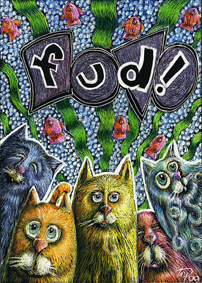 Fish Mixed Media - Cats Know It By Name by Teresa Nolen Pratt