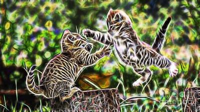 Cats Mixed Media - Cats by Marvin Blaine