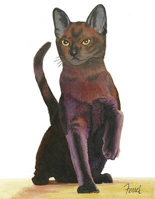 Painting - Cats Meow by Ferrel Cordle