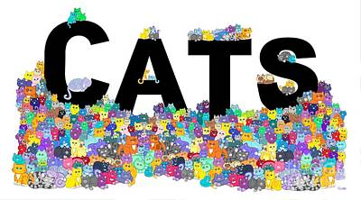 Digital Art - Cats by Nick Gustafson