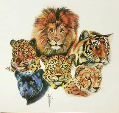 Cheetah Drawing - Cats by Tami Hughes