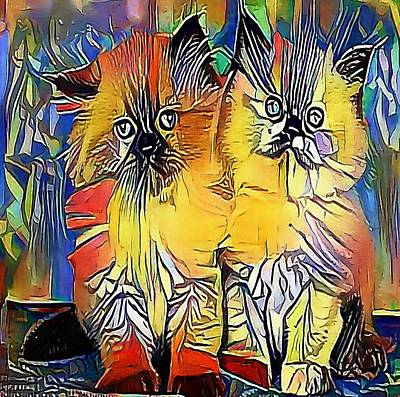 Purebred Digital Art - cats - My WWW vikinek-art.com by Viktor Lebeda