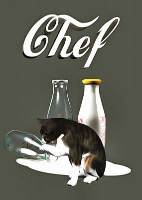 Painting - Chef by Jan Keteleer