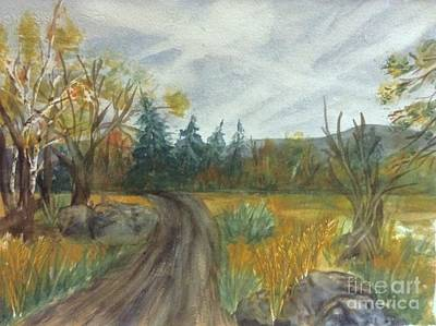Painting - Catskills - Country Road Autumn by Ellen Levinson