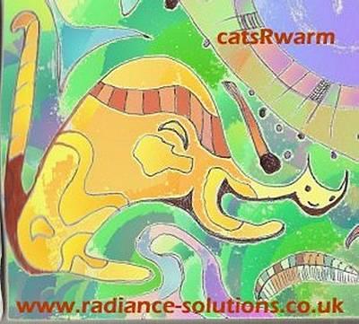Drawing - Catsrwarm Abstract Drawing by Julia Woodman