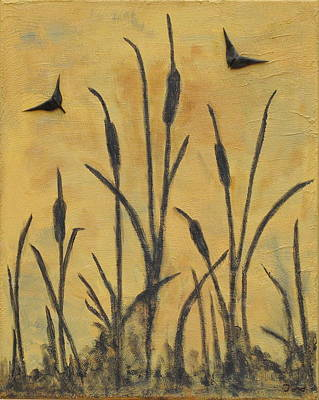 Painting - Cattails I by Trish Toro