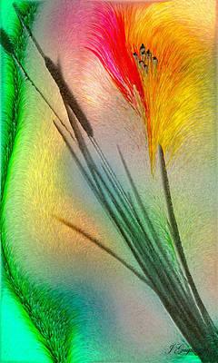 Cattails Art Print by Jean Gugliuzza