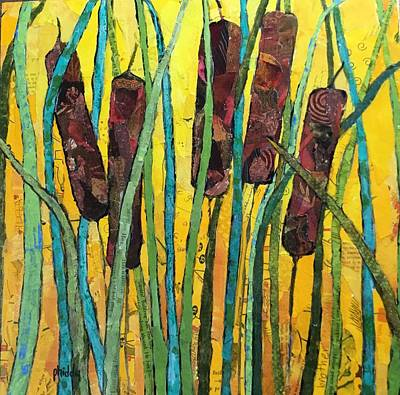 Painting - Cattails by Phiddy Webb