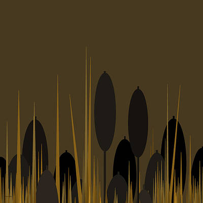 Digital Art - Cattails by Val Arie