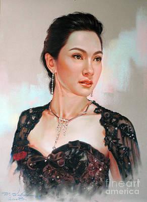 Catthaleeya Art Print by Chonkhet Phanwichien
