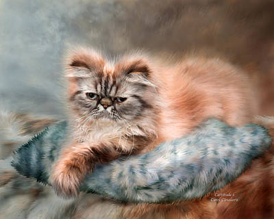 Mixed Media - Cattitude 1 by Carol Cavalaris