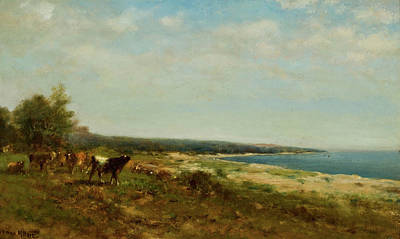 Waterside Painting - Cattle Along The Waterside by MotionAge Designs