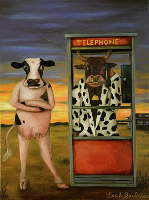 Cattle Call Original by Leah Saulnier The Painting Maniac