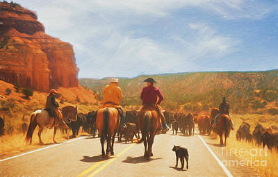 Herding Dog Photograph - Cattle Call On Boulder Mountain by Carolyn Rauh