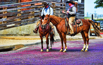 Photograph - Cowboy Conversation by Roberta Byram