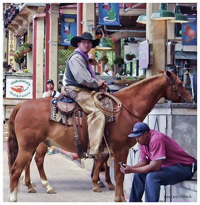 Photograph - Fort Worth Stockyards by Roberta Byram