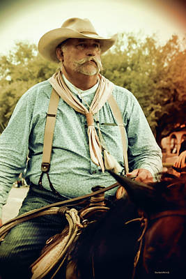 Cattle Drive Photograph - The Cowboy by Roberta Byram
