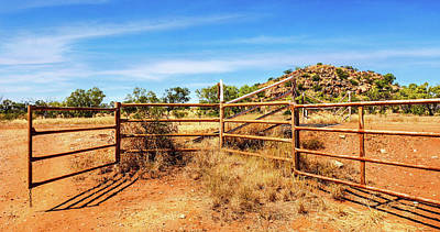 Photograph - Cattle Gates In The Outback by Lexa Harpell