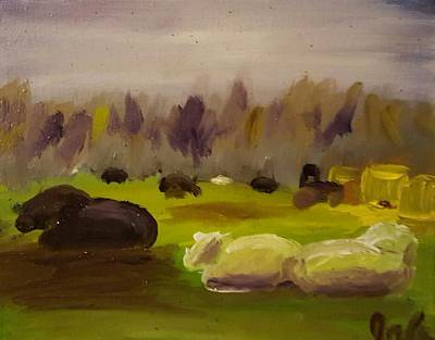 Painting - Cattle In Field  by Steve Jorde