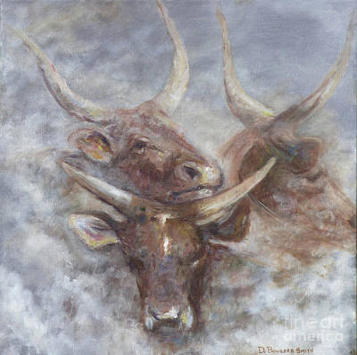 Painting - Cattle In The Mist by Deborah Smith