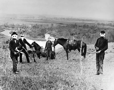 Photograph - Cattle Rustlers 1885 by Granger