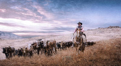 Digital Art - Cattle Wrangler by Rick Mosher
