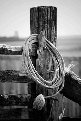 Working Cowboy Photograph - Cattleman's Rope by Derek Jones
