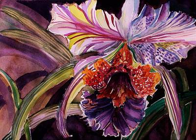 Painting - Cattleya Orchid by Mindy Newman