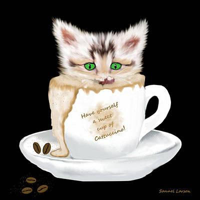 Cattuccino Art Print