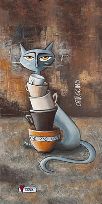 Addict Painting - Cattuccino by Tania Vorster