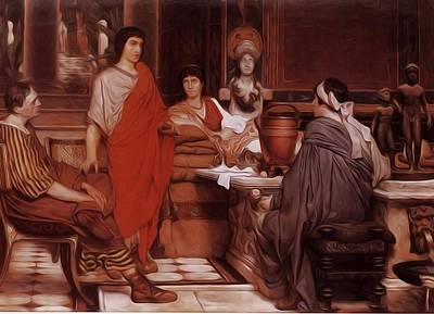 Catullus Painting - Catullus At Lesbia 1865 by Alma Tadema Lawrence