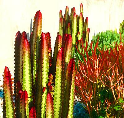 Painting - Catus Garden by Amy Vangsgard