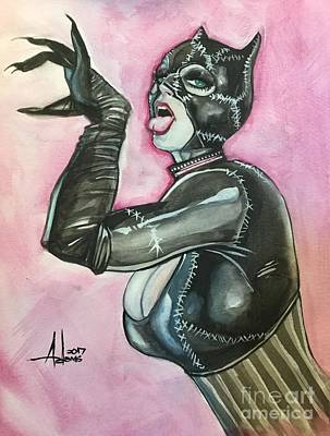 Painting - Catwoman 3 by Jimmy Adams