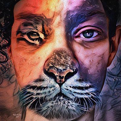 Digital Art - Catwoman by Artful Oasis