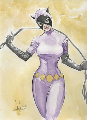 Catwoman Art Print by Jimmy Adams