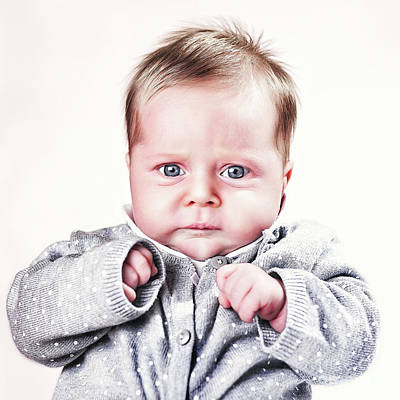 Photograph - Caucasian Baby Portrait by Gualtiero Boffi
