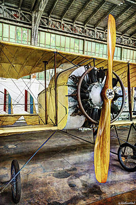 Photograph - Caudron G3 Propeller And Cockpit - Vintage by Weston Westmoreland