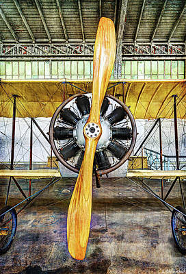 Photograph - Caudron G3 Propeller - Vintage by Weston Westmoreland