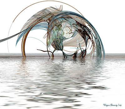 Caught In A Net Art Print by Wayne Bonney