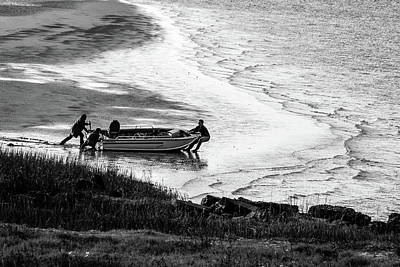 Photograph - Caught In Low Tide by Menachem Ganon