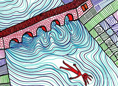 Drawing - Caught In The Current by Sarah Loft