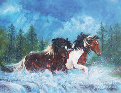 Painting - Caught In The Rain  by Karen Kennedy Chatham