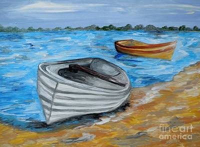 Rural Scenes Painting - Caught In The Tide by Eloise Schneider