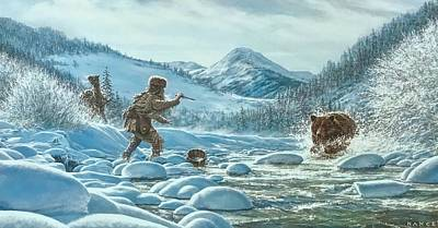 Mountain Paintings - Caught off guard by Dan Nance